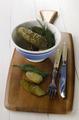 salt cucumbers in a bowl - PhotoDune Item for Sale