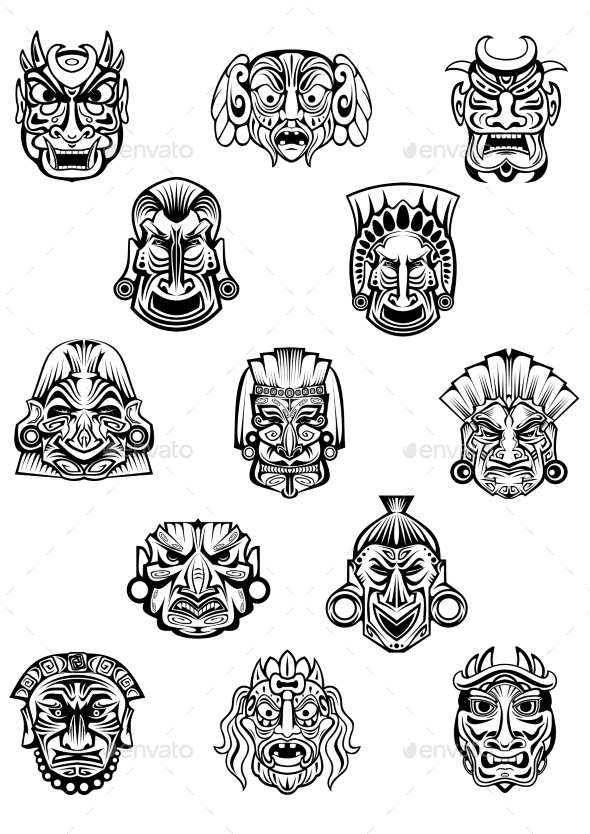 GraphicRiver Ceremonial Masks 10207834