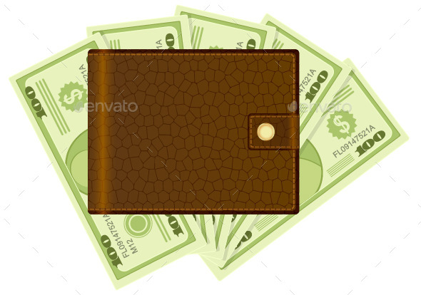 GraphicRiver Wallet and Dollar Banknotes 10207940