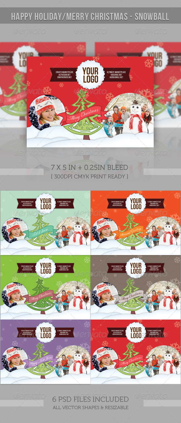 GraphicRiver Happy Holiday Merry Christmas Snowball 1028401