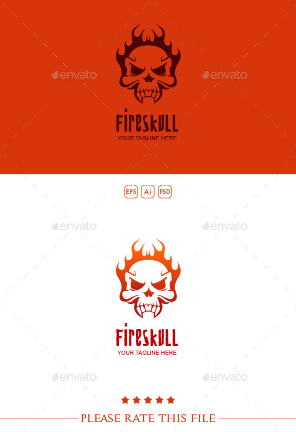 GraphicRiver Fire Skull Logo 10178882