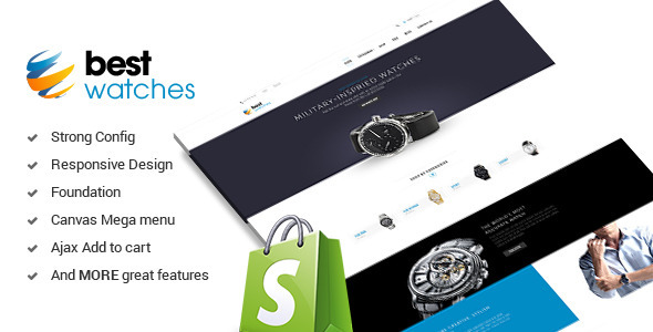 ThemeForest Watches Responsive Shopify Template 10079887