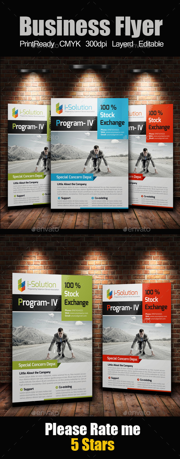 GraphicRiver A4 Multi Use Business Flyer 10209376