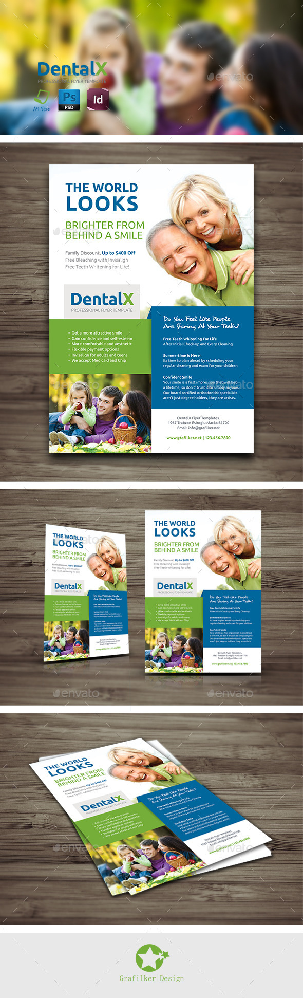 GraphicRiver Dentist Flyer Templates 10210184
