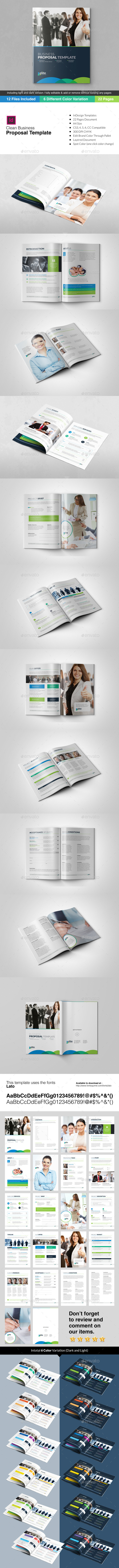GraphicRiver Elite Corporate Clean Business Proposal Template 10213262
