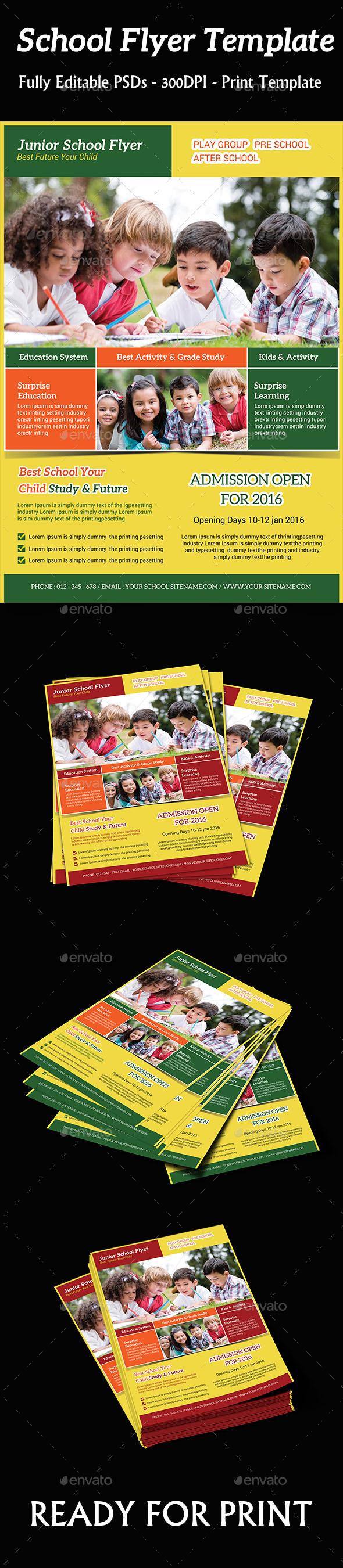 GraphicRiver Kids School Flyer 10213893