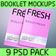 Fresh Pack of Booklet Mockups - GraphicRiver Item for Sale