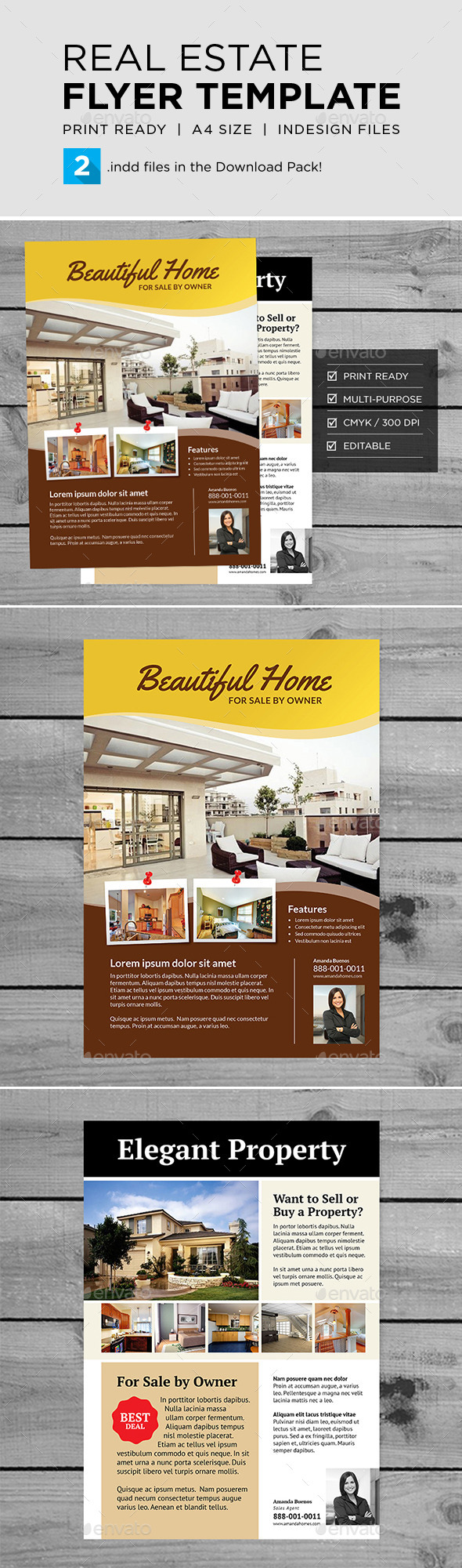 GraphicRiver Real Estate Flyer Template 10214093