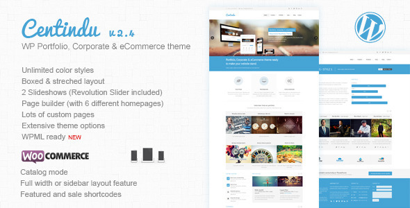 Centindu Portfolio & Shop WordPress Theme - WooCommerce eCommerce
