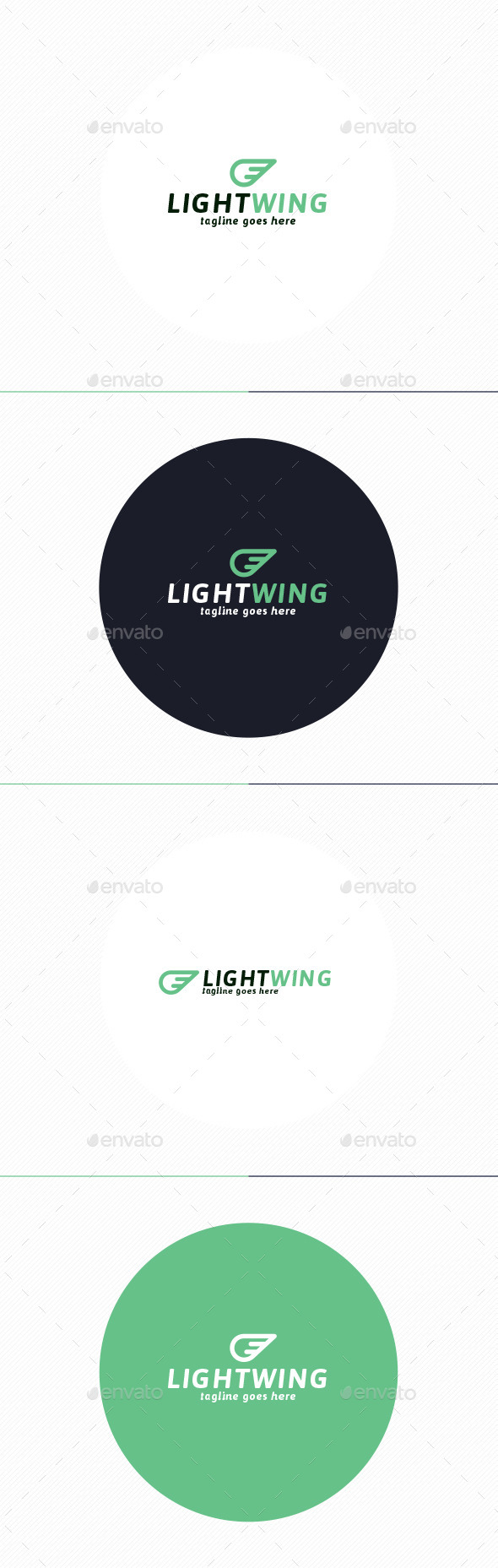 GraphicRiver Light Wing Logo 10214511