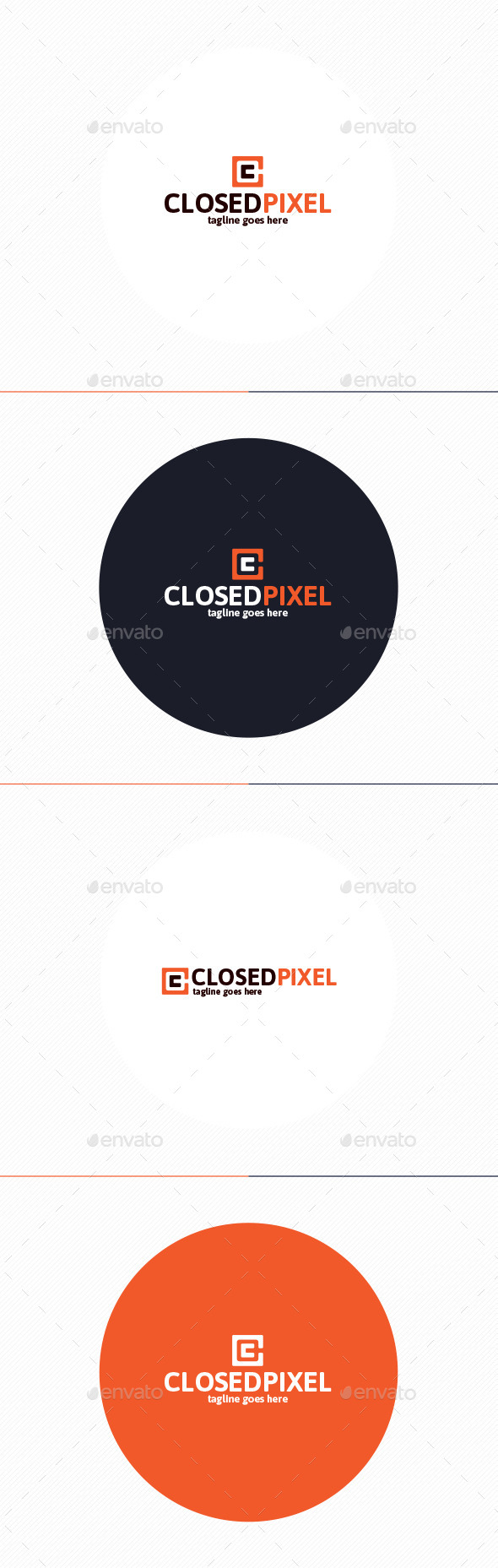 GraphicRiver Closed Pixel Logo Letter C 10214536