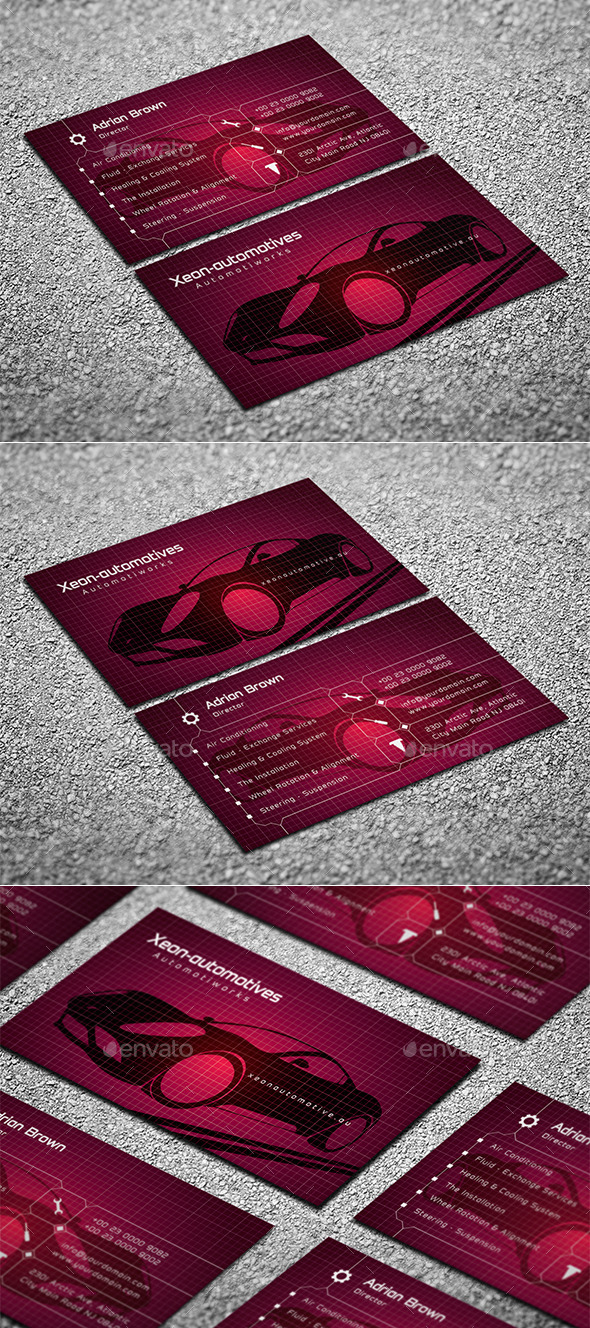 GraphicRiver Automotive Business Card 10214568