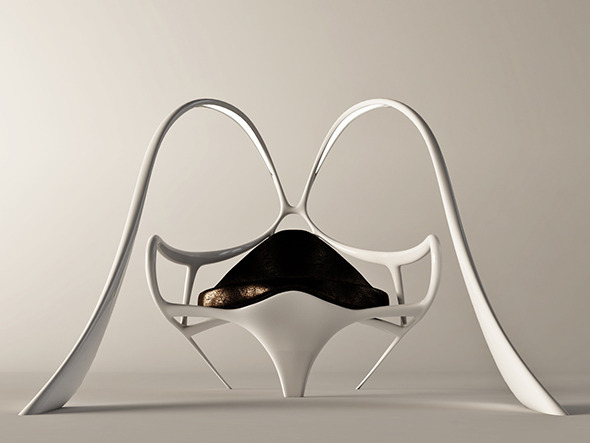Futuristic armchair Bunny - 3DOcean Item for Sale