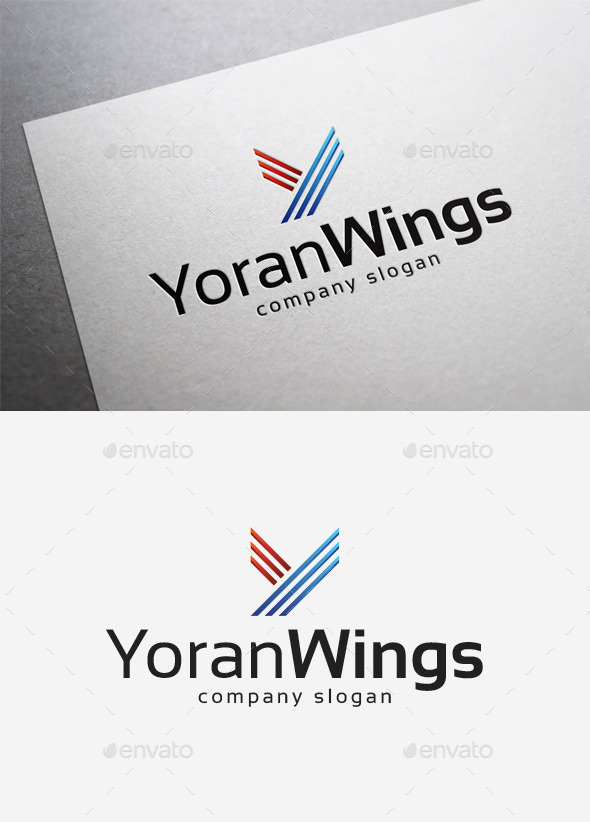 GraphicRiver Yoran Wings Logo 10214628