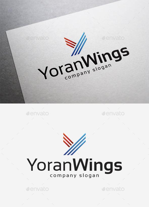 GraphicRiver Yoran Wings Logo 10214628