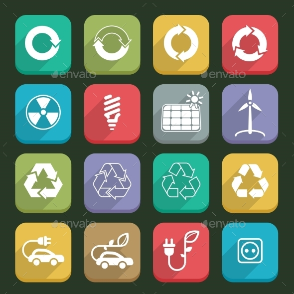 GraphicRiver Ecology Icons 10214679