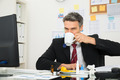 Sick Businessman Drinking Lemon Tea - PhotoDune Item for Sale