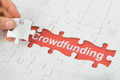 Crowdfunding Text Under Jig Saw Puzzle - PhotoDune Item for Sale