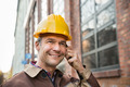 Builder Wearing Hardhat Talking On Walkie Talkie - PhotoDune Item for Sale