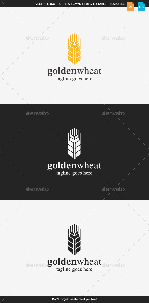 GraphicRiver Golden Wheat Logo 10215150