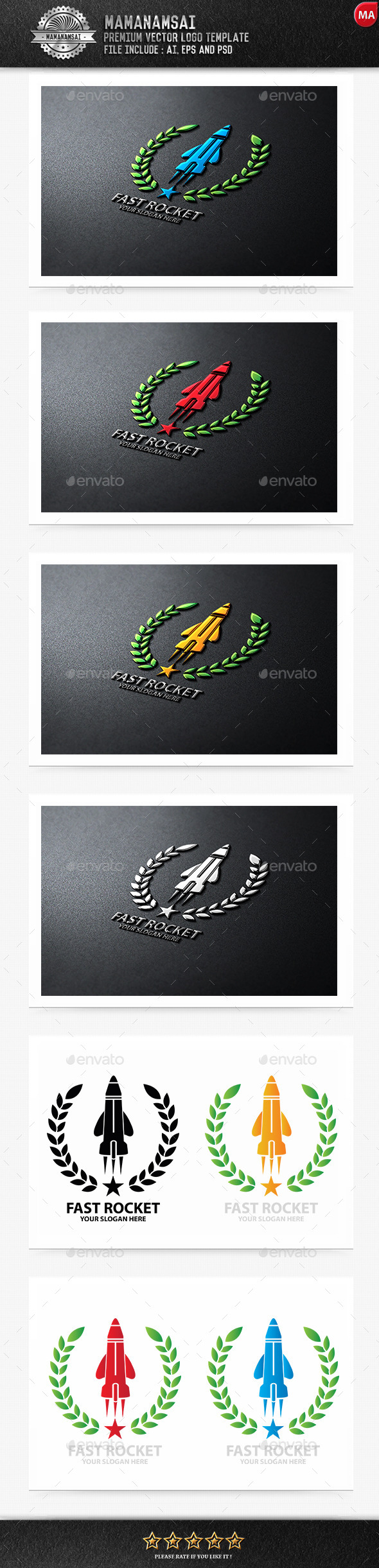 GraphicRiver Fast Rocket Logo 10215262