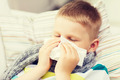 ill boy with flu at home - PhotoDune Item for Sale