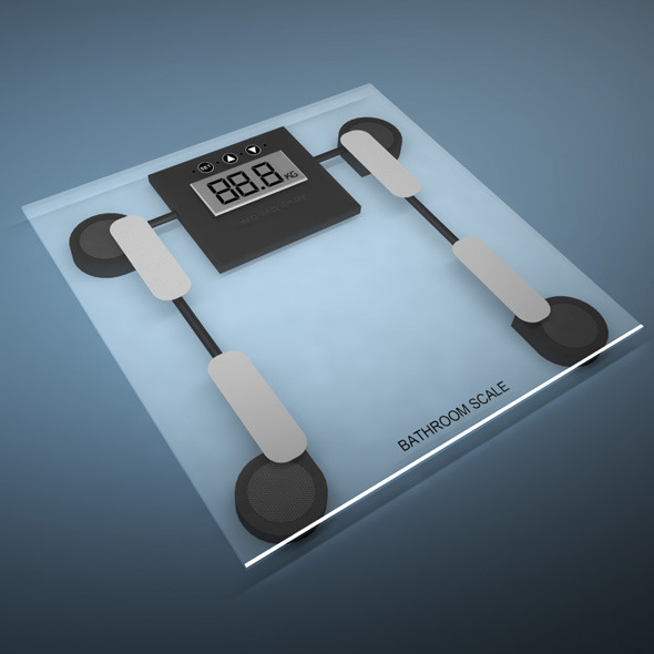 3DOcean Bathroom weight scale 10215847