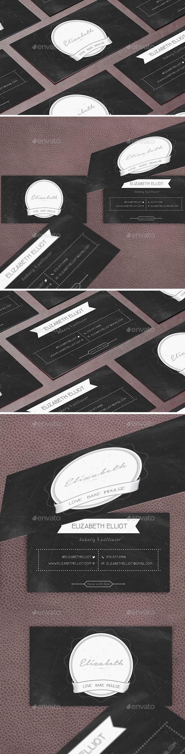 Business Card Template Bakery