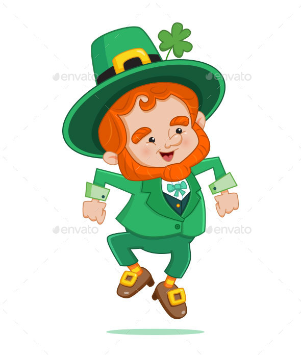 GraphicRiver Dancing Leprechaun 10216695