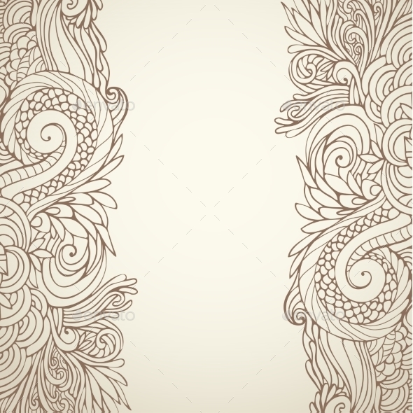 GraphicRiver Brown Outline Floral 10216785