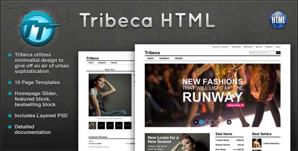 Tribeca eCommerce HTML Template