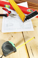 Still life with working tools on the wooden workbench - PhotoDune Item for Sale