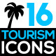 Set of Tourism Related Icons