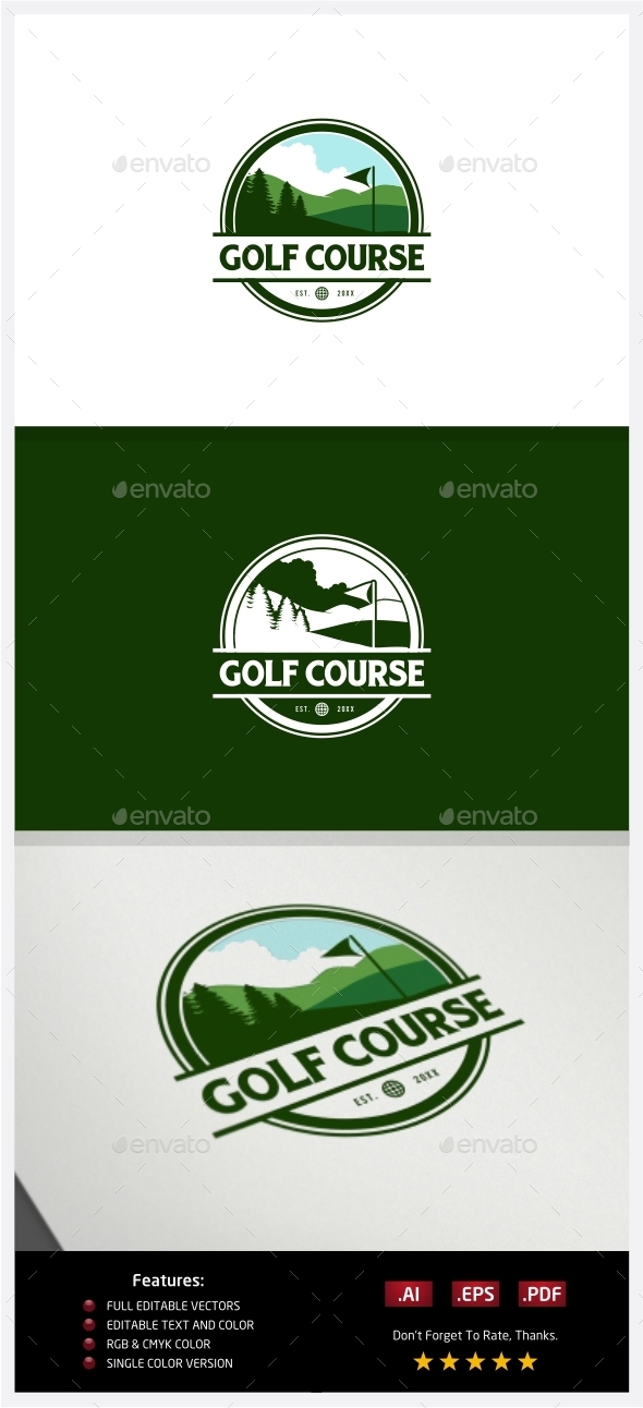 GraphicRiver Golf Course Logo 10219086