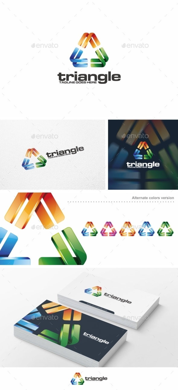 GraphicRiver Colorful Triangle Logo Template 10219147