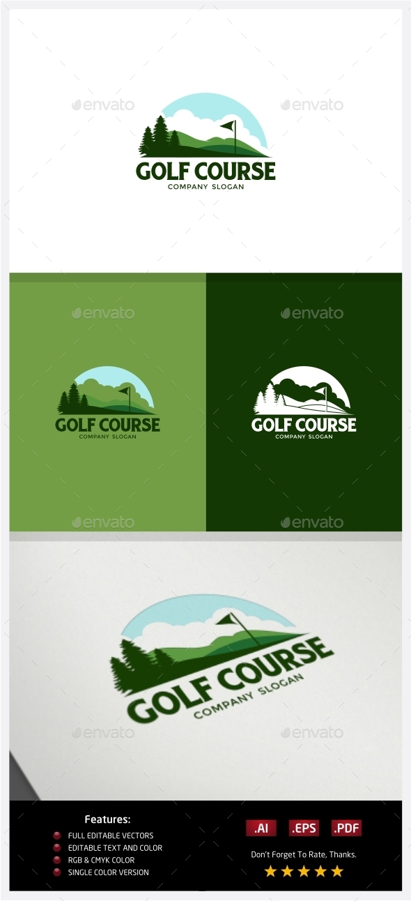 GraphicRiver Golf Course Logo 10219150