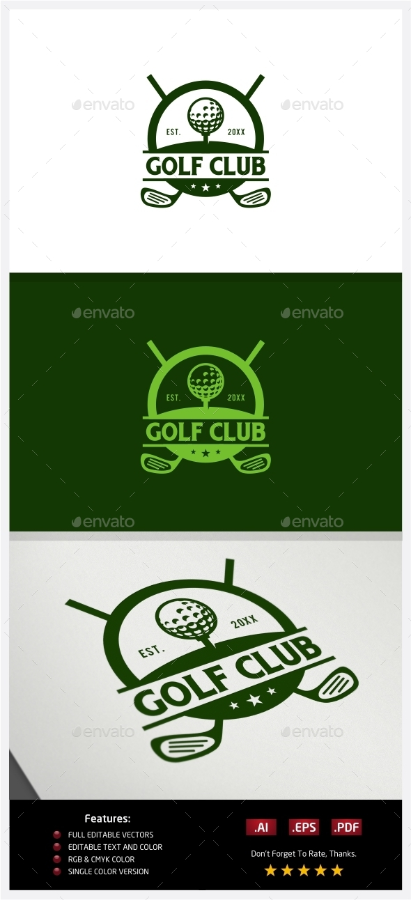 GraphicRiver Golf Club Logo 10219178