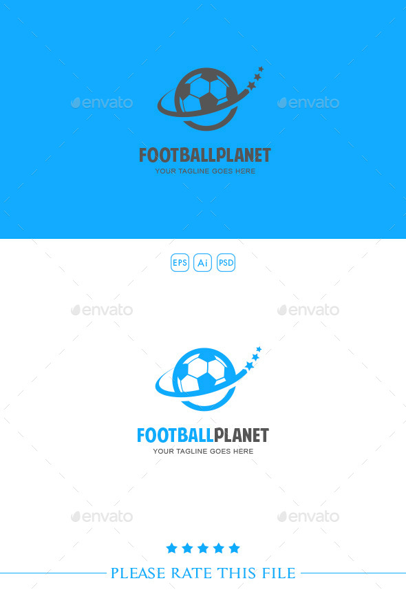 GraphicRiver Football Planet Logo 10219192
