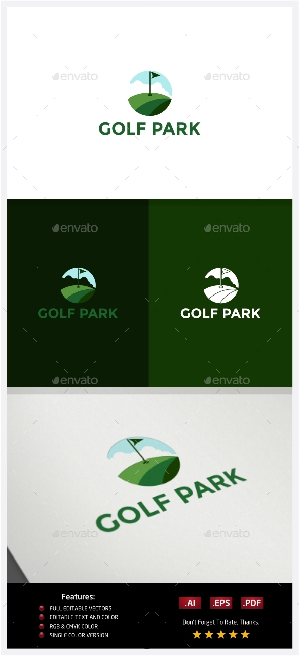 GraphicRiver Golf Park Logo 10219261