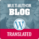 Multi-Author Blog WordPress Theme - Blog / Magazine WordPress