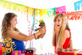 girl friends party excited with puppy dog present - PhotoDune Item for Sale