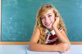 Happy student expression schoolgirl in classroom - PhotoDune Item for Sale
