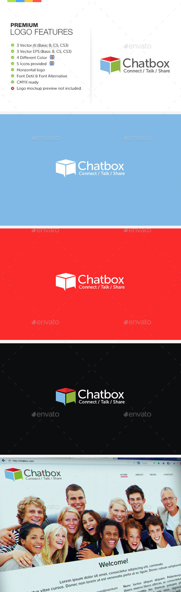 GraphicRiver Chat Box Logo 9828163