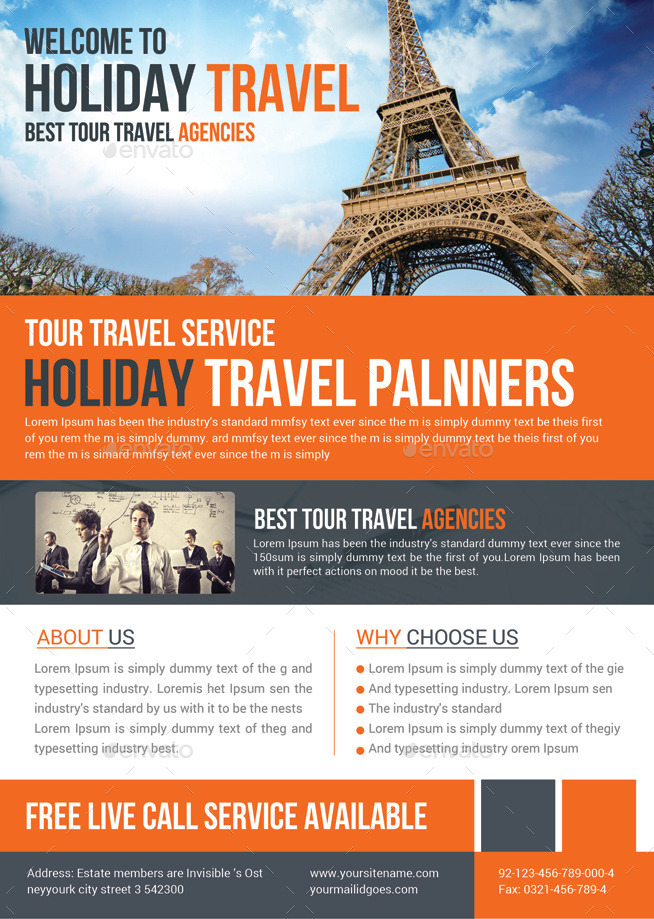 tour flyer template