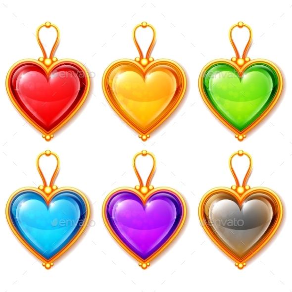 GraphicRiver Heart Pendants 10222958