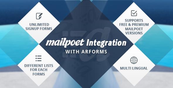 Mailpoet integration with Arforms