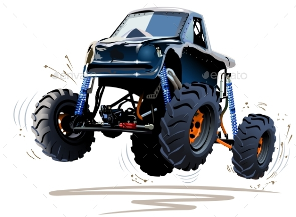 GraphicRiver Cartoon Monster Truck 10222969