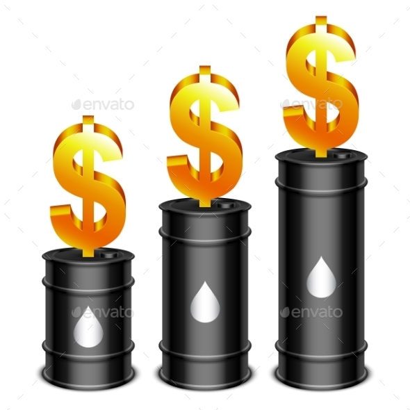 GraphicRiver Oil Barrels and Dollar 10222974