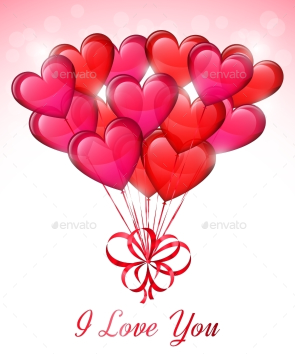 GraphicRiver Heart Shaped Balloons 10222981