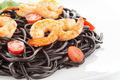 Black spaghetti with shrimps - PhotoDune Item for Sale